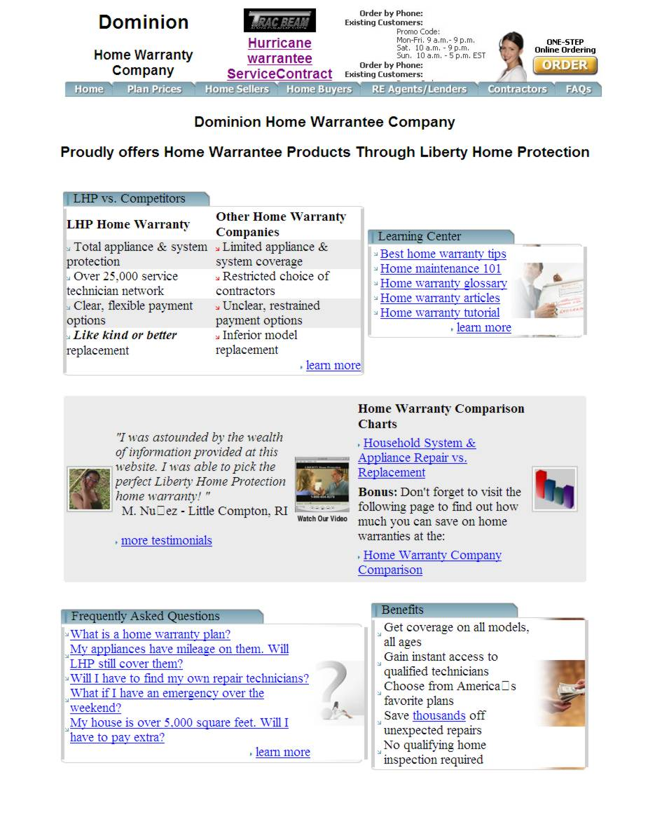Sham dominion home warranty site for Liberty home protection